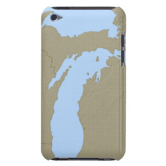 Relief Map of Michigan Barely There iPod Case