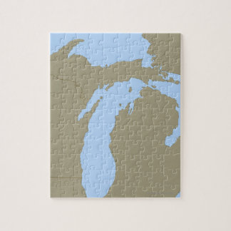 Relief Map of Michigan Jigsaw Puzzle