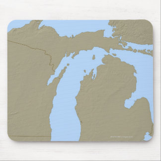 Relief Map of Michigan Mouse Pad