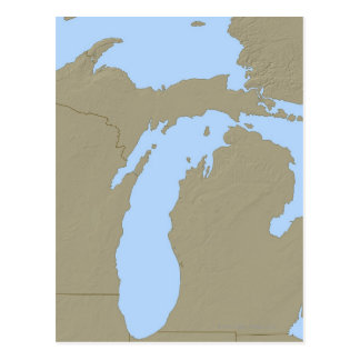 Relief Map of Michigan Postcard