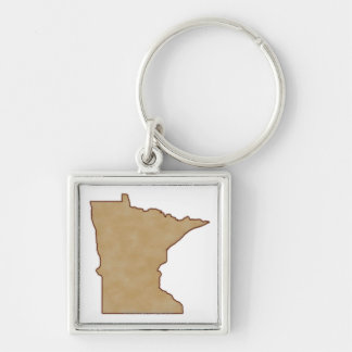 Relief Map of Minnesota Keychain