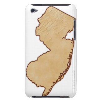 Relief Map of New Jersey Barely There iPod Cover