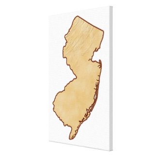 Relief Map of New Jersey Canvas Print