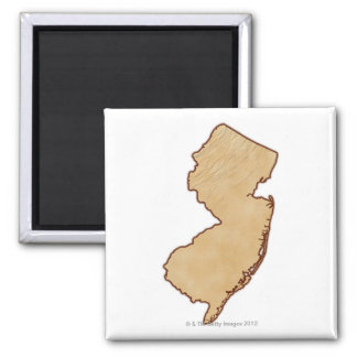 Relief Map of New Jersey Magnet