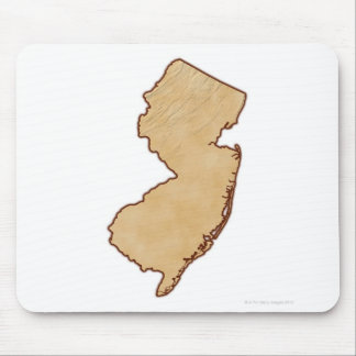 Relief Map of New Jersey Mouse Pad