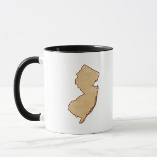 Relief Map of New Jersey Mug