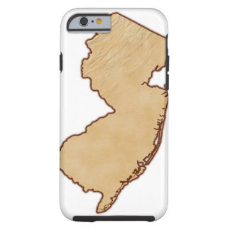 Relief Map of New Jersey Tough iPhone 6 Case