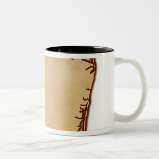 Relief Map of New Jersey Two-Tone Coffee Mug