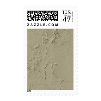 Relief Map of New Mexico Postage