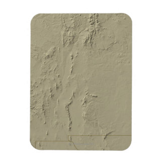 Relief Map of New Mexico Rectangular Photo Magnet