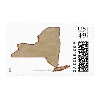 Relief Map of New York State Stamp