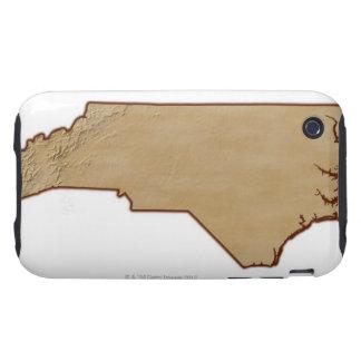 Relief Map of North Carolina iPhone 3 Tough Case