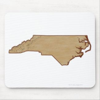 Relief Map of North Carolina Mouse Pad