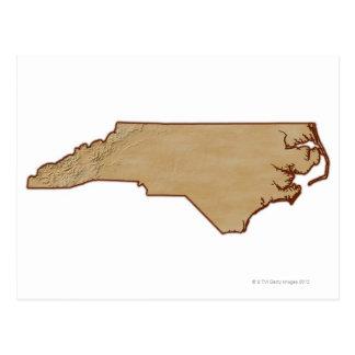 Relief Map of North Carolina Postcard