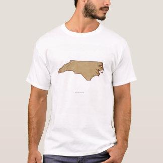 Relief Map of North Carolina T-Shirt
