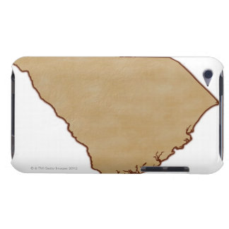 Relief Map of South Carolina iPod Touch Cover