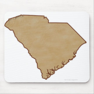 Relief Map of South Carolina Mouse Pad