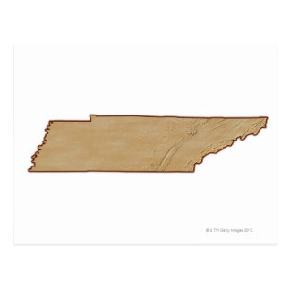 Relief Map of Tennessee Postcard