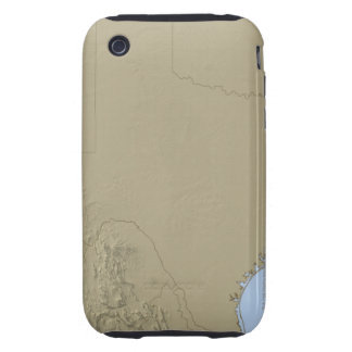 Relief Map of Texas 2 Tough iPhone 3 Case