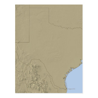 Relief Map of Texas 2 Postcard