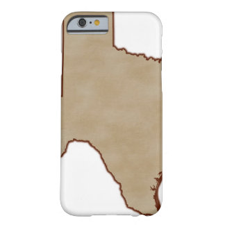Relief Map of Texas Barely There iPhone 6 Case