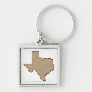 Relief Map of Texas Keychain