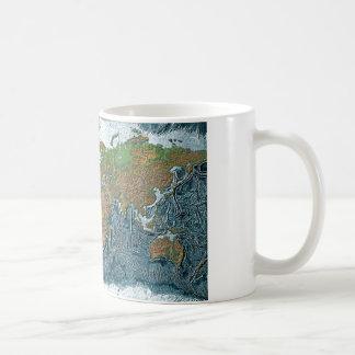 Relief Map of the Earth Coffee Mug
