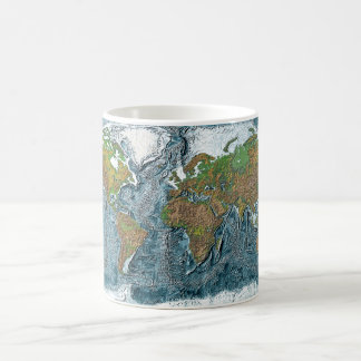 Relief Map of the Earth Coffee Mug