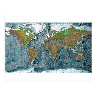 Relief Map of the Earth Postcard