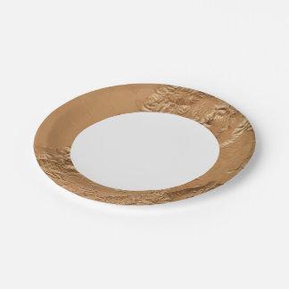 Relief map of Utah Paper Plate