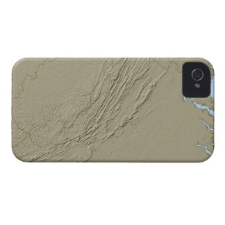 Relief Map of Virginia 2 Case-Mate iPhone 4 Cases