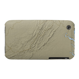 Relief Map of Virginia 2 iPhone 3 Covers