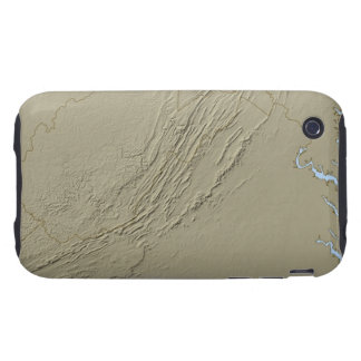 Relief Map of Virginia 2 iPhone 3 Tough Cover