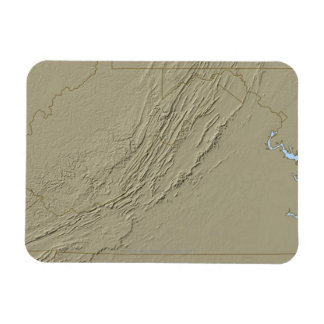 Relief Map of Virginia 2 Magnet
