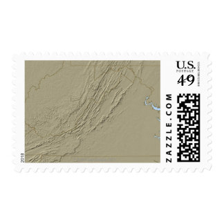 Relief Map of Virginia 2 Postage