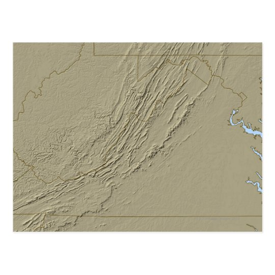Relief Map of Virginia 2 Postcard