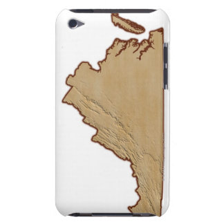 Relief Map of Virginia iPod Touch Case