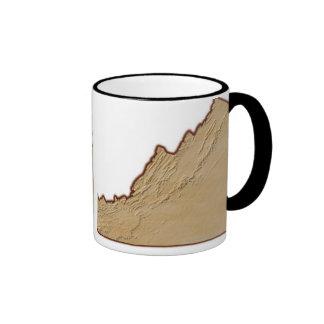 Relief Map of Virginia Coffee Mug