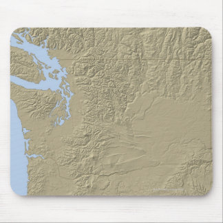 Relief Map of Washington Mouse Pad