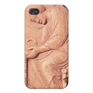 Relief of a monk studying, from Hotel de iPhone 4 Cover