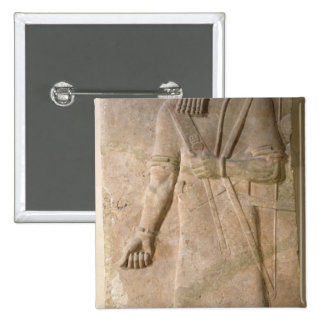 Relief of an Assyrian warrior 2 Inch Square Button