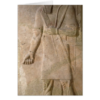 Relief of an Assyrian warrior Greeting Card