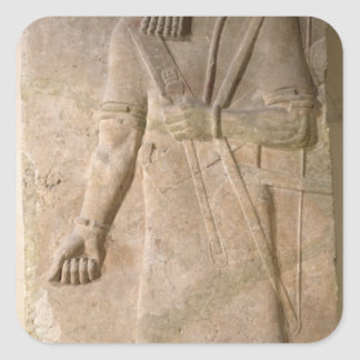 Relief of an Assyrian warrior Square Sticker