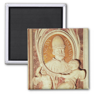 Relief of Damasus I  on a nave pilaster 2 Inch Square Magnet