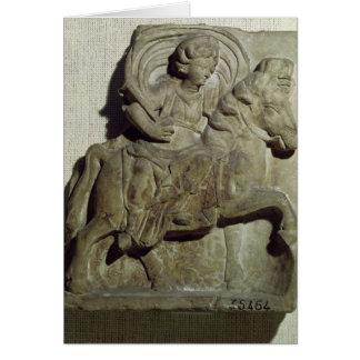 Relief of Epona, Gaulish goddess Greeting Cards