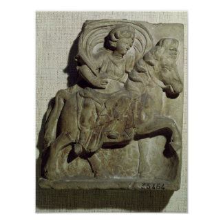 Relief of Epona, Gaulish goddess Poster