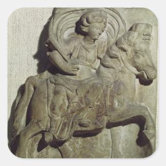 Relief of Epona, Gaulish goddess Square Sticker