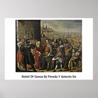 Relief Of Genoa By Pereda Y Antonio De Poster