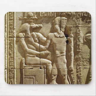 Relief of Sobek and Ptolemy VI Philometor Mouse Pad