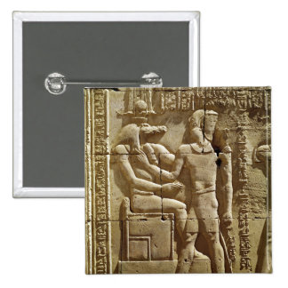 Relief of Sobek and Ptolemy VI Philometor Pinback Button
